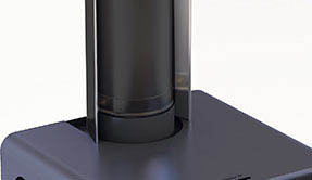Black-finished Bosca Wood Fire Flue